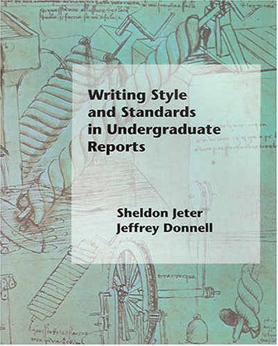 Writing Style and Standards in Undergraduate Reports