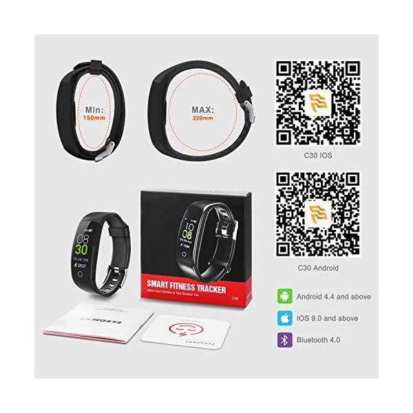 ELEGIANT Pulsera de Actividad Inteligente, Reloj Inteligente IP67 Deportivo 3D UI Hombre Mujer Niño Podómetro con GPS… 7