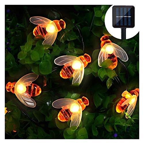 Luci Solari Esterno, 5m 20 LED Catena Luminosa Esterno Filo Luci Led 8 modalità Lucine da Esterno Decorative Per Giardino, Natale, Patio, Cancello, Cortile, Matrimonio, Festa