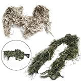 Hunters Harp 2PCS Ghillie Rifle Wrap Woodland-Desert Camo Gun Wrap for Paintball Sniper Rifle Hunting Rifle Ghillie Airsoft Gun Gear Ghillie Wrap Ghillie Netting Ghillie Suit Material Gun Ghillie
