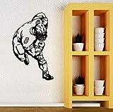 woyaofal Stickers muraux Décoration Sport Football américain Enfants Garçons Chambre Murales Vinyle Stickers Salon Chambre 71x119cm