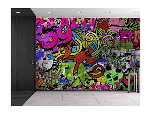 wall26 - Colorful Graffiti - Large Wall Mural, Removable Peel and Stick Wallpaper, Home Decor - 100x144 inches