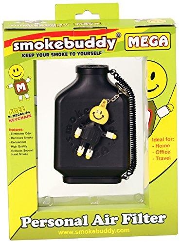 Smoke Buddy 0161-BLK Mega Personal Air Filter, Black