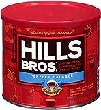 Hills Bros Perfect Balance Ground Coffee, Medium Roast, 23 Oz. Can – Full-Bodied Classic Rich Coffee Taste, Half the Caffeine