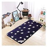 GELing Cómodo colchón Plegable Auxiliar futón Ahorra Espacio Tela Microfibra,Color 4,100X200cm