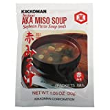 Kikkoman Miso Soup Aka Instant, 1.05-ounce Units (Pack of 3) , Total 9 Individual Servings