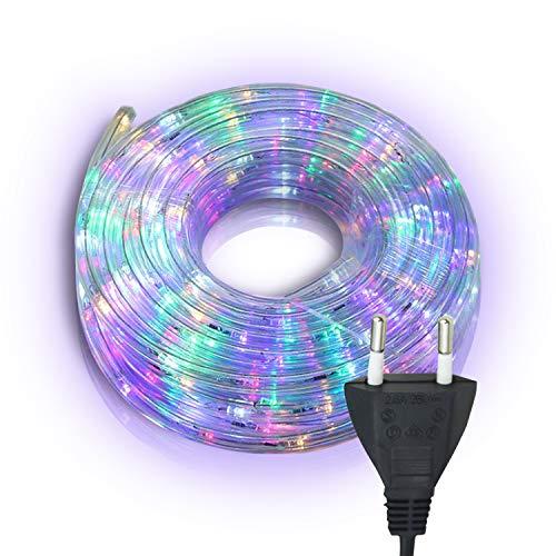 Hengda LED Lichtschlauch, Bunt Lichterschlauch mit 480 LEDs, 20m Wasserdicht Lichterkette Farbwechsel, für Innen Außen Balkon Hochzeit Weihnachtsbaum