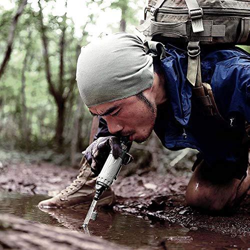 POSPORT Filtre à Eau Personnel 1000L, Élimine 99,9% des Bactéries pour Randonnée Voyage Backpacking Camping Survie