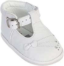 Dempsey Marie Girl's T-Strap Ankle Strap High Top Baptism Special Occasion Leather Shoes