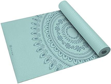 Gaiam - Alfombrilla de yoga, 6 mm, extra gruesa, para todo tipo de yoga, pilates y ejercicios en el suelo (68 pulgadas x 24 pulgadas x 6 mm de grosor)