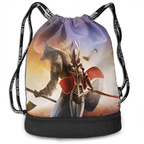 Mode Leichte Multifunktions-Bundle Rucksack Umhängetaschen Outdoor Kordelzug Tasche für Männer/Frauen