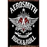 Froy Old Printing Rock Roll – Aerosmith Wand Blechschild