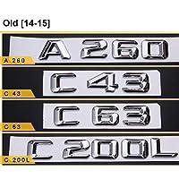 メルセデスベンツACES CLA CLE CLS GLA GLC GLE GLSの場合、クローム文字番号エンブレムカースタイリング補修トランクモデルステッカー