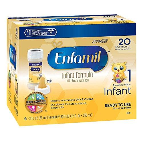 Enfamil PREMIUM Non-GMO Infant Formula - Ready to Use Nursette Bottles, 2 fl oz (6 count)
