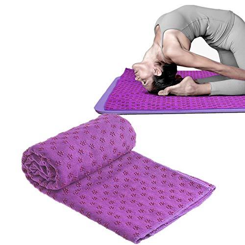 Rysmliuhan Shop Toalla de yoga antideslizante para ejercicio, toalla de yoga caliente, toalla de fitness, toalla antideslizante, toalla para yoga, esterilla de yoga, toalla de sudor, color morado