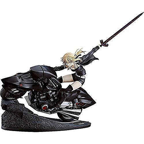 WXxiaowu FateGrand Orde SaberAltria Pendragon (Alter) & Cuirassier Noir Bike 18 Schaal PVC Actie Anime Figuren Model Speelgoed Gift MET BOX