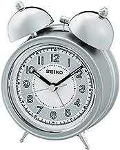 Seiko Alarm Clock (11.1 cm x 8.4 cm x 5.2 cm, Silver, QHK035SN)