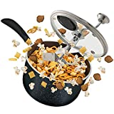 ZGF Stainless Steel Stovetop Popcorn Popper, with Glass Lid Easily Make Classic Or Flavored...
