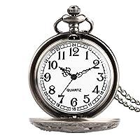 ユニークな中空タコカバークォーツ懐中時計ネックレスブロンズ/グレーカラーフォブウォッチ男性用女性用2021子供用の新しい時計ギフト