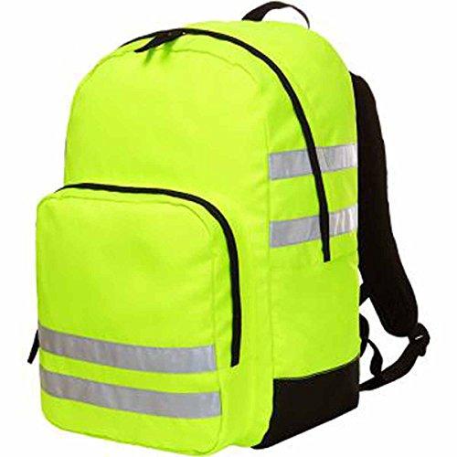 HALFAR 1802721-Mochila con cintas reflectoras, color amarillo fluorescente 1812206 réflex