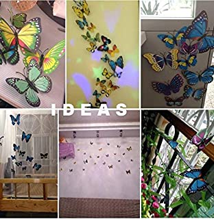 Set 12pcs 3d Red Butterfly Wall Stickers Decoration