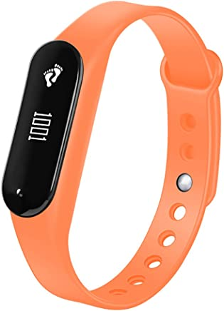 Bracelet Bluetooth Heart Rate Monitoring Waterproof Blood Pressure Smart Watch Intelligent Sport Ring(Orange)