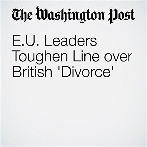 EU Leaders Toughen Line over British 'Divorce' cover art