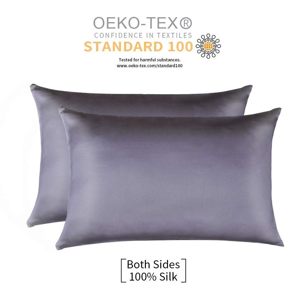 JiangJue Mulberry Pillowcases Breathable Standard