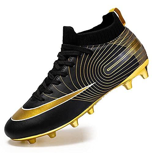 NC - Botas de fútbol para hombre, con punta alta, para el cuidado del tobillo, para niños, para deportes, para exteriores, interiores, juegos/entrenamientos