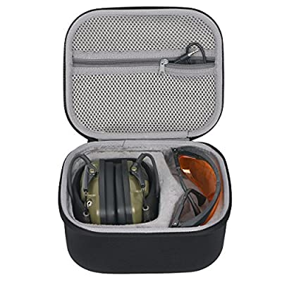 co2crea Hard Travel Case for Howard Leight Impact Sport OD Electric Earmuff for Genesis Sharp-Shooter Safety Eyewear Glasses