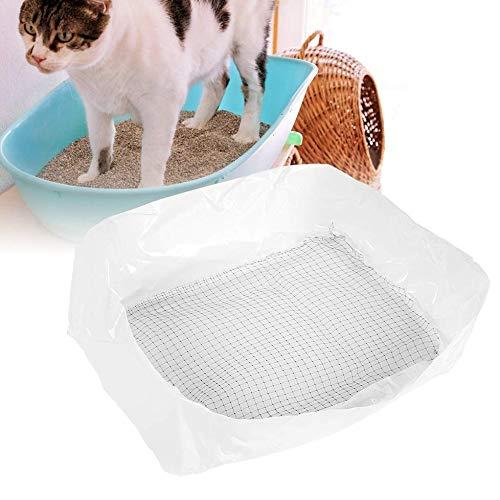 Pssopp 10 Caja de Arena para Gatos Forros Súper Fuerte Bolsa de Arena para Gato Cachorro Gatito Gatito Pan Liner Bandeja de Basura para Gatos Reutilizable