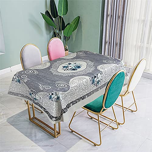 SUNFDD Fabric Dining Table Waterproof And Antifouling Tablecloth Ethnic Style Digital Printing Tablecloth Dining Table Dining Table Home Hotel Outdoor Tablecloth 140x200cm(WxH) U