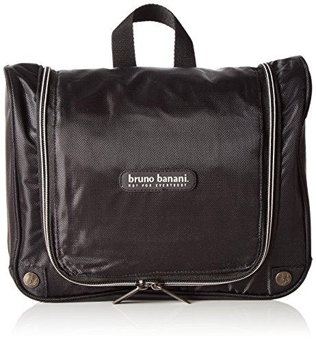 Bruno Banani wash_bag_4 C 32_1046, Unisex-Erwachsene Handgelenkstaschen, Schwarz (schwarz), 27x22x11 cm (B x H x T)