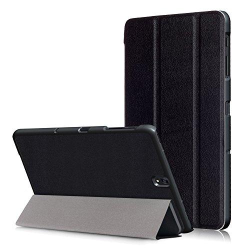 USTIYA Funda para Samsung Galaxy Tab S3 T820/T825 9.7 Pulgadas Case Cuero Protectora PC+PU (Negro)