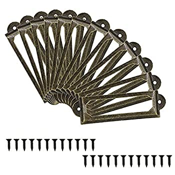 TOUHIA 50pcs Antique Bronze Label Holder for Office Library File Cabinet Drawer Card Tag Label Holder Metal Frame  60 x 17mm