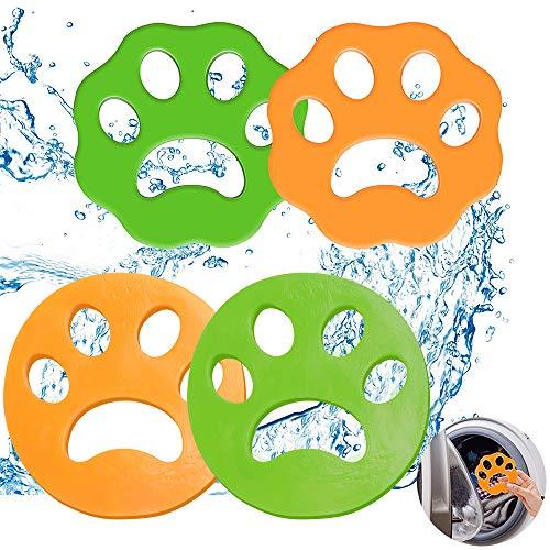 BUNAA Atrapador Pelo Mascotas, Pet Fur Catcher para Mascotas, 4 Piezas Reutilizable Filtrado de Piel Catcher Lavandería Bola Flotante Recoge Pelos Mascotas y Limpieza de Ropa para Lavadora Secadora