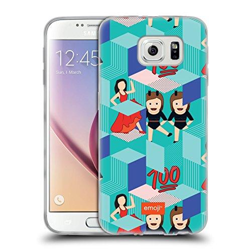 Head Case Designs Oficial Emoji Cajas Patrones 2 Carcasa de Gel de Silicona Compatible con Samsung Galaxy S6