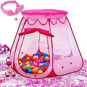 Le Papillon Pink Princess Tent Kids Ball Pit