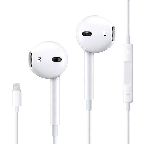 Auriculares/Audífonos/Cascos con Conector, micrófono y Control de Volumen para Apple iPhone