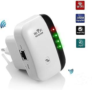 Teabelle Repetidor de WiFi Extensor de Red WiFi Repeater Mini (2,4 GHz, 300 Mbps, Puerto Fast Ethernet, WPS, Modo Ap Punto...
