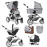 ABC Design Salsa 4 - passeggino, carrozzina, ovetto, accessori (graphite grey, trio completo di accessori)