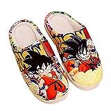 Japanische Manga Plüsch Hausschuhe Herren Damen Herbst und Winter Pantoffeln Baumwolle Wärme rutschfeste Schuhe Bodenschuhe-Dragon_Ball_Z_UK_7.5-9 / EU_42-44 (290mm)