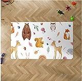 Oedim Alfombra Infantil Animales para Habitaciones PVC | 95 x 120 cm |Moqueta PVC | Suelo vinílico | Decoración del Hogar | Suelo Sintasol | Suelo de Protección Infantil |