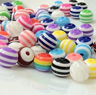 LINSUNG un pack Perles Jouet Educatif de Calcul Comptage Jeu Maths Enfants Préscolaire Bijou de bricolage fait main Bande de résine colorée faite main 8MM