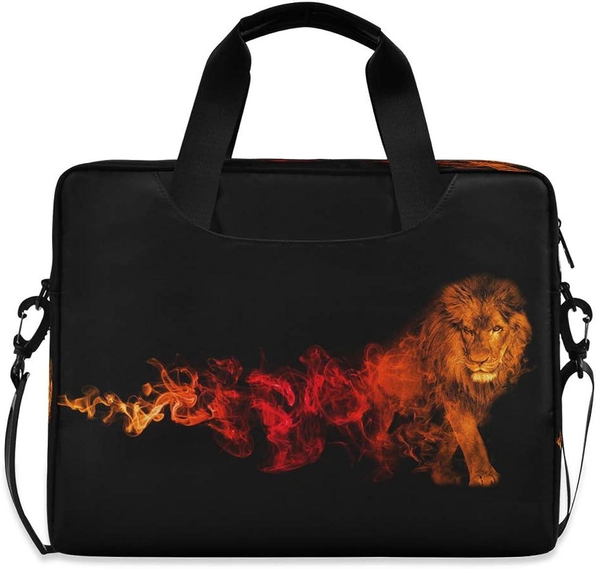 LELEGO Fire Lion New Orleans Mall Flame Animal Ranking TOP11 Shoulder Car Laptop Bag