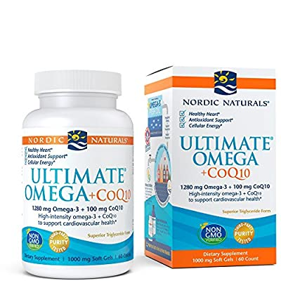 Nordic Naturals Ultimate Omega CoQ10 - Pack of 60 Softgels from VITLL