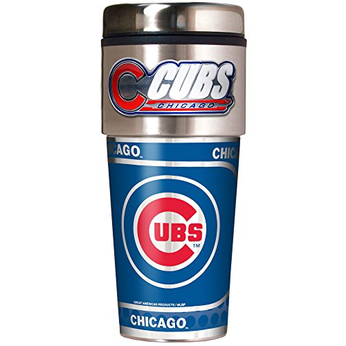 MLB Chicago Cubs Metallic Travel Tumbler,  16-Ounce