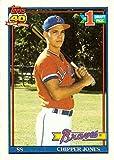 1991 Topps Baseball #333 Chipper Jones Rookie...