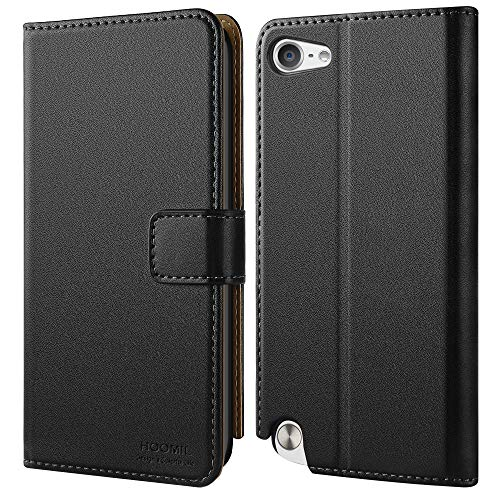 HOOMIL Wallet Case for Apple iPod Touch 7/6/5, Flip Leather Cover - Black
