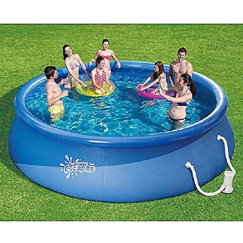 Summer Escapes 15' x 36' Quick Set Round Above Ground Swimming Pool with Filter Pump System